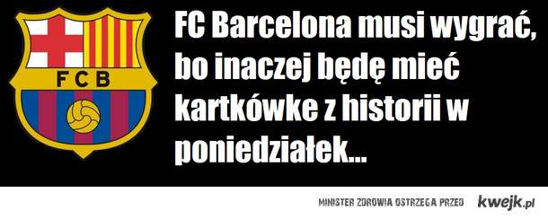 nauczyciel wielki fan FCB