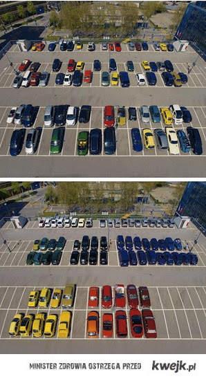 kolorowy parking