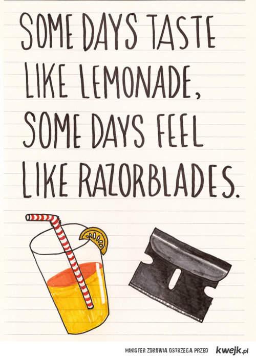 Lemoniada i żyletki