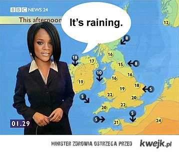 Rihanna It's raining raining