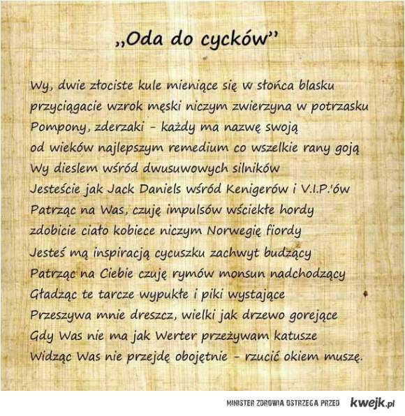 Oda do cycków