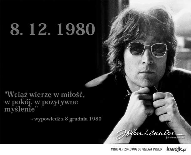 John Lennon 8.12.1980 <3
