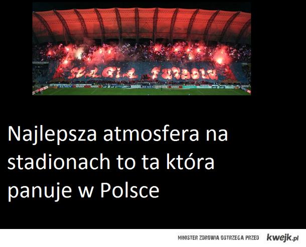 Atmosfera na stadionach