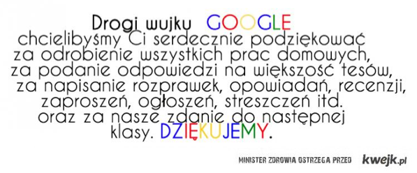 Do wujka Google