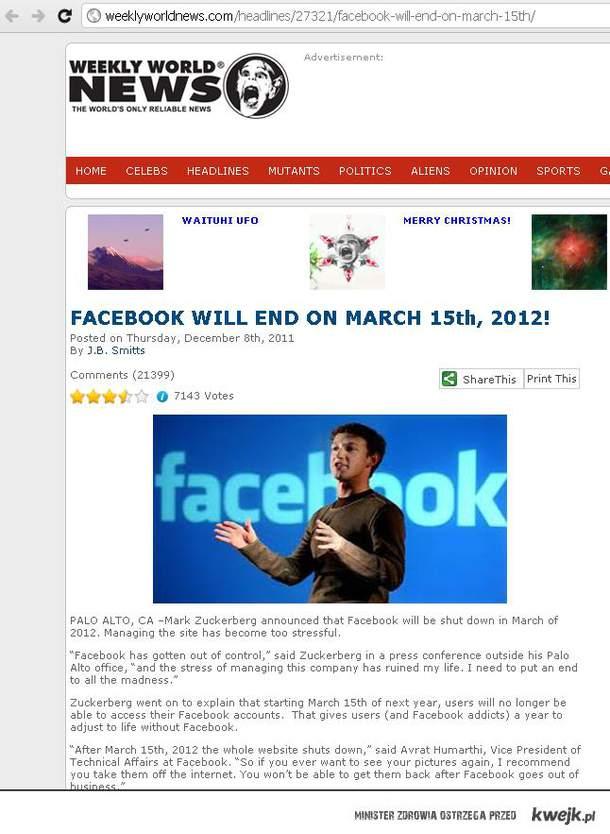 Koniec facebook'a