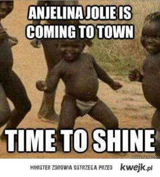 Angelina is coming