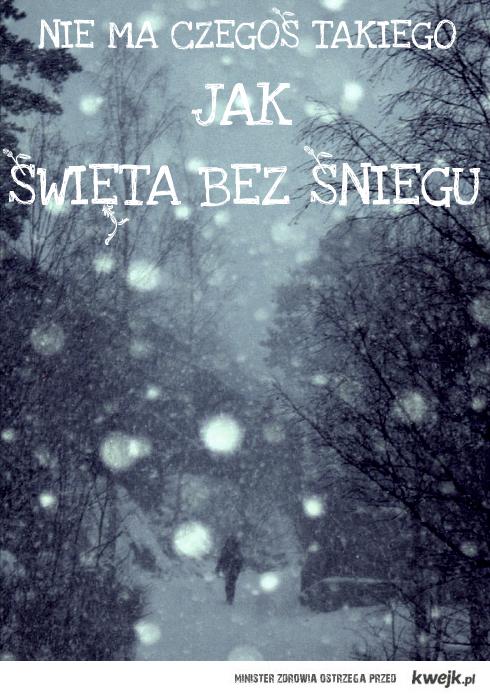 Nie ma czegos takiego jak swieta bez sniegu.