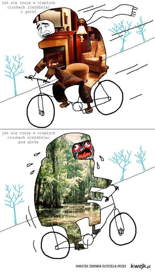na rowerze zimą