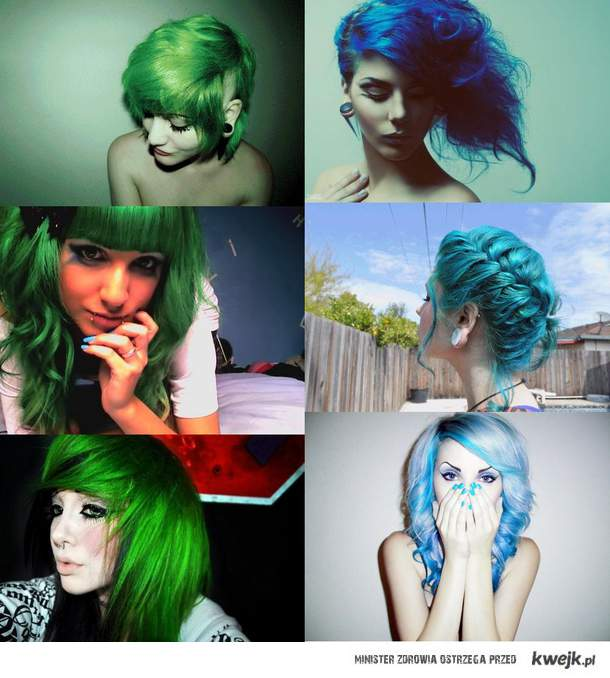 Green and Blue