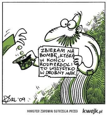 zbiera na bombę