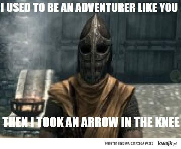 An arrow in the knee