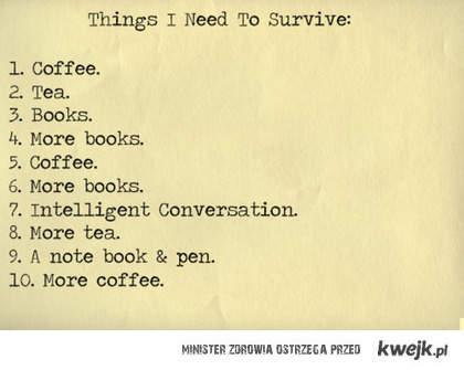 rzeczy potrzebne do przetrwania