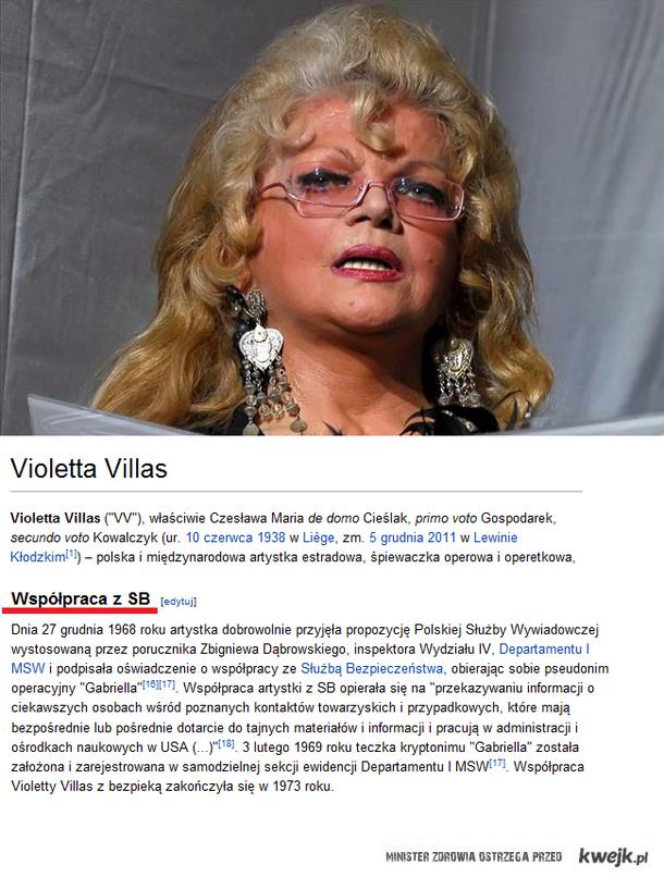 Violetta Villas współpracowała z SB
