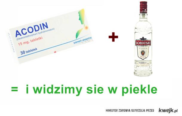 acodin i wódka