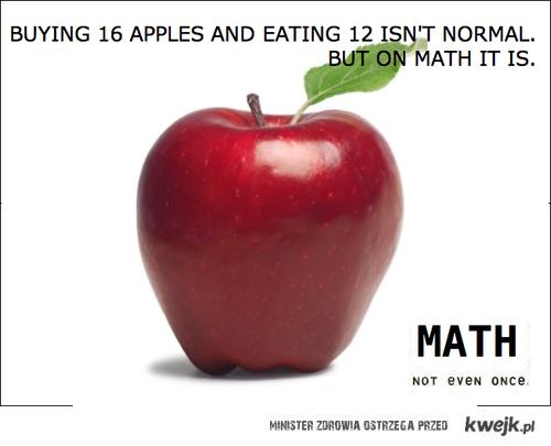 matma i jabłka