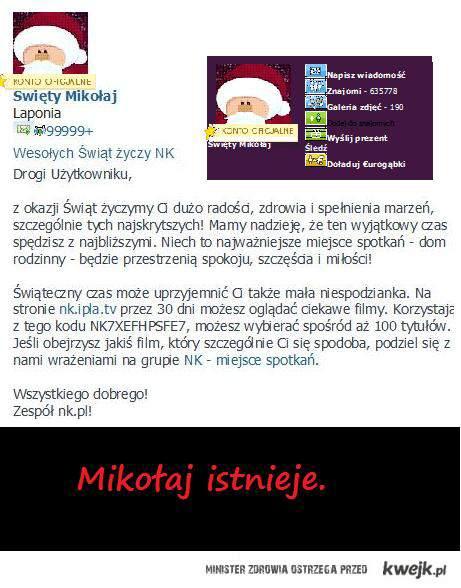 Swiety Mikolaj istnieje