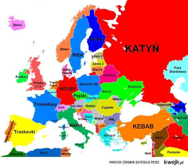 tak Polacy widzą Europę :D