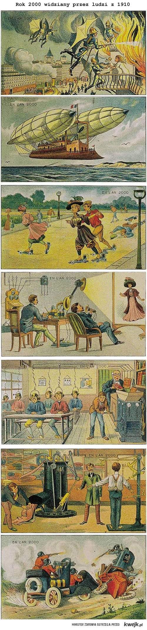 futurystyczne wizje z początku XX wieku