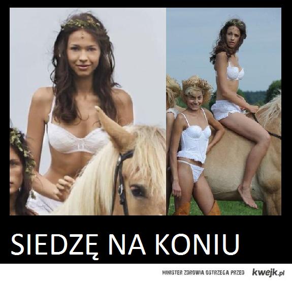 siedzę na koniu.