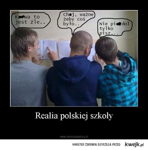 Realia Polskiej szkoły