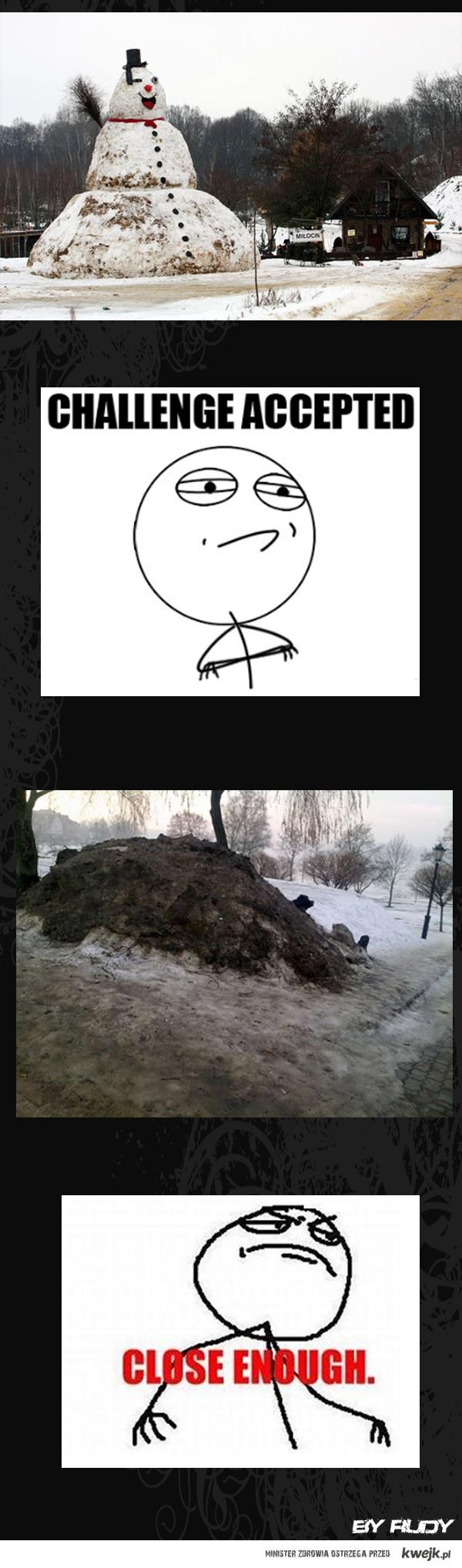 snieg i balwan, jak co roku;)