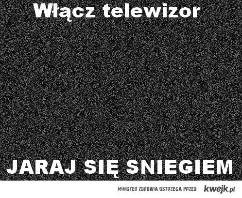 śnieg w tv