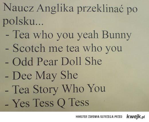 Naucz anglika przekliknac po polsku