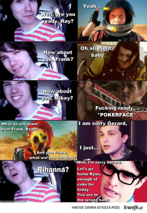 Gerard don't like Ryan xd