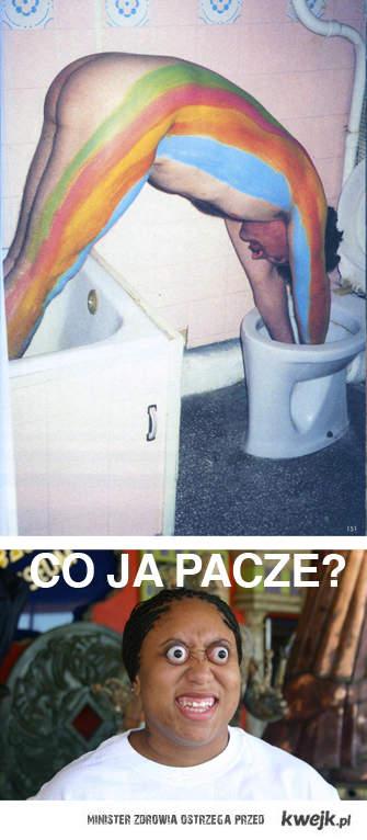 Rainbow in the toilet