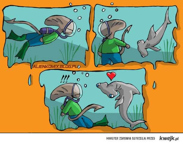 Alien vs Ryba Młot