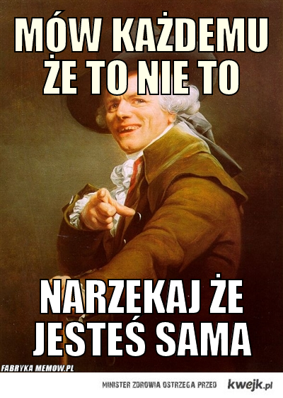 To nie to...