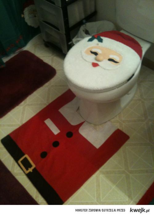 święteczna toaleta
