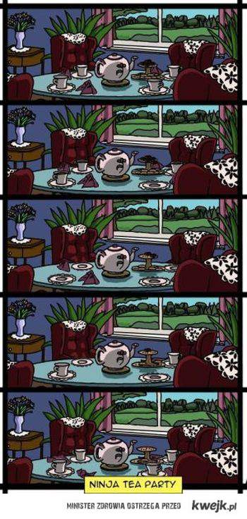 Ninja tea party