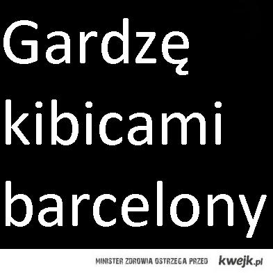 Gardze barcelona i jej kibicami