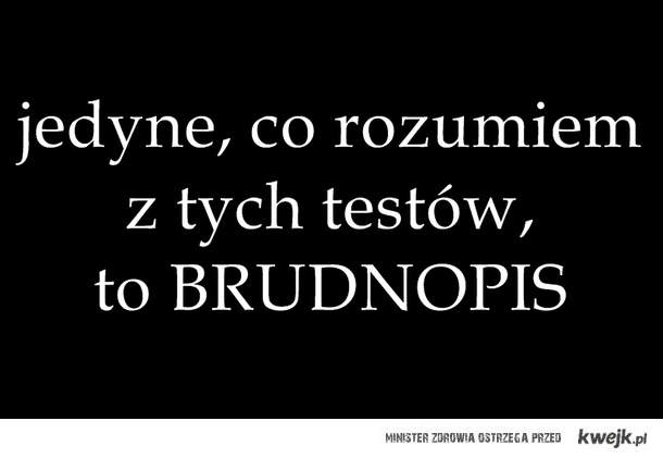 próbne testy ):