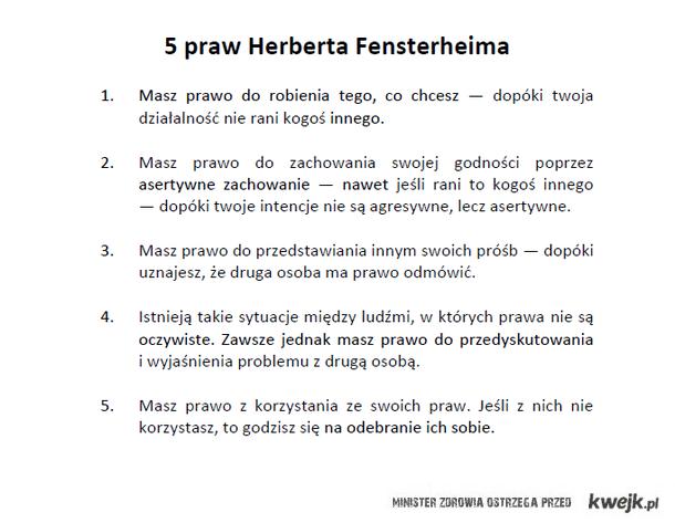 5 praw Herberta Fensterheima