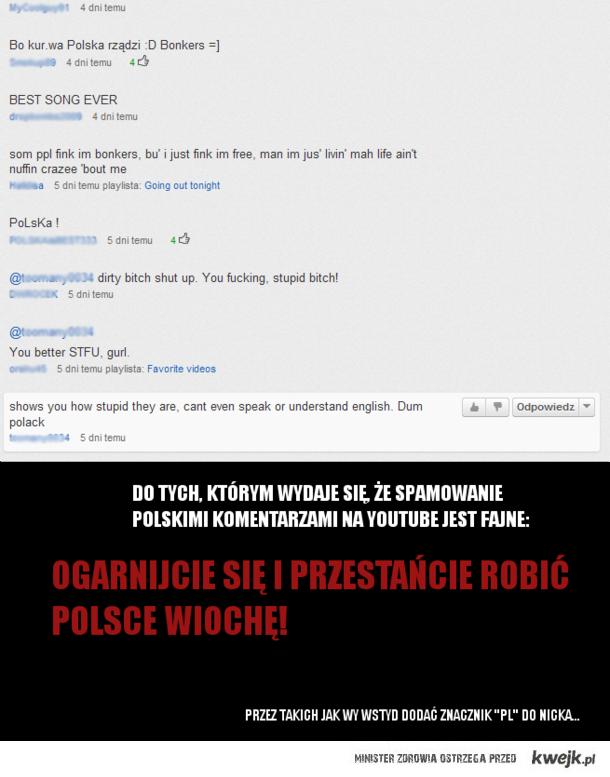 polski spam na YT