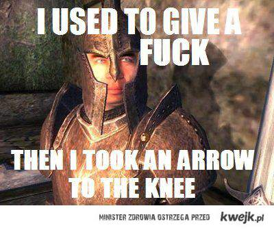 Skyrim Knee