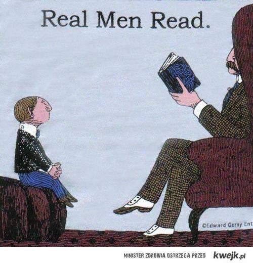 prawdziwi faceci czytają
