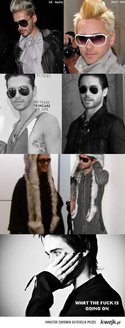 kaulitz vs leto (pytanie o to kto wygląda lepiej jest chyba zbędne?)