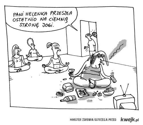 zła strona jogi