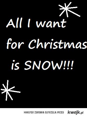 SNOWWW please