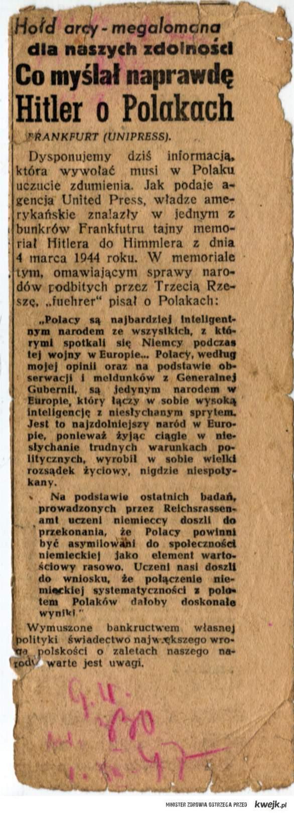 Hitler o Polakach