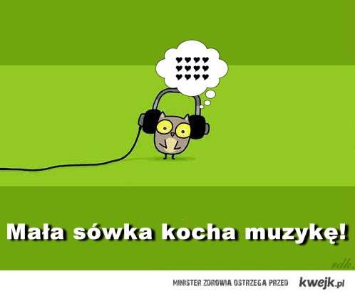 Mała sówka kocha muzykę!