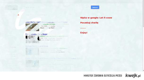 Let it snow google!