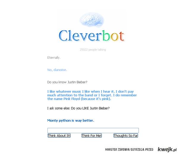 CleverBot jak zawsze wymiata
