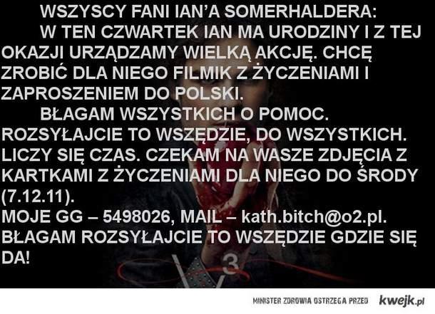 Akcja dla Iana Somerhaldera