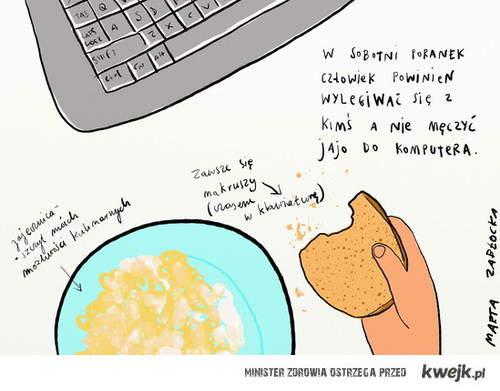jajecznica i okruszki