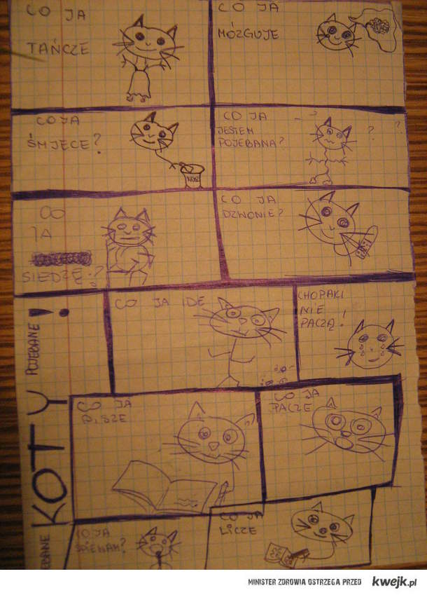 z serii:kolejna lekcja z Kotem