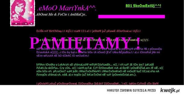 EMO MARTYNKA - PAMIĘTAMY <3